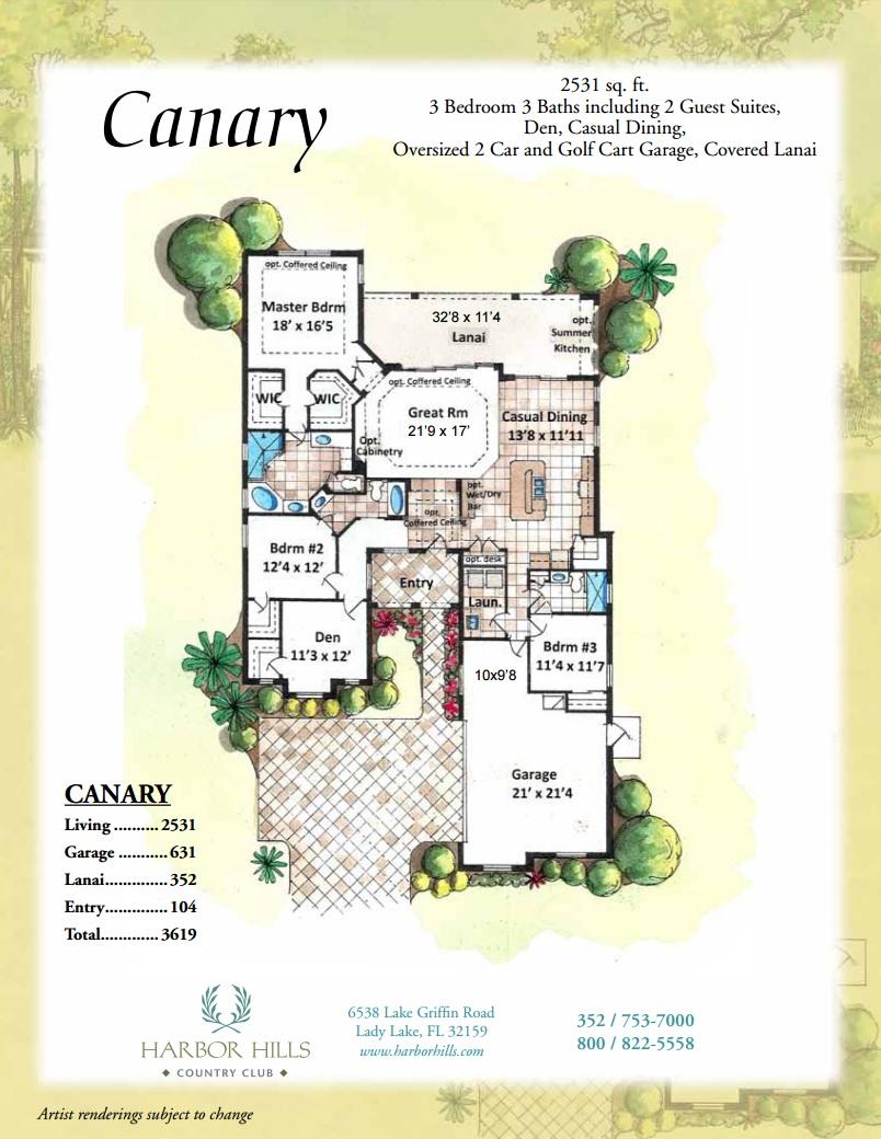 canary harbor hills country club canary floorplan