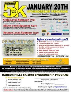 harbor hills 5k sponsorship opportunities