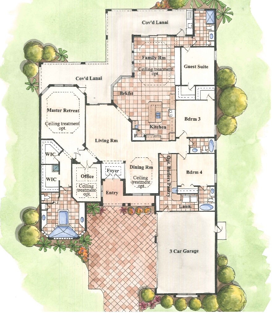 Harbor Hills Willow Model Floorplan Rendering
