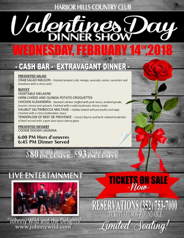Valentines Day Dinner At Harbor Hills Country Club Archives
